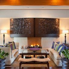 Contemporary Living Room by Stephanie Parisi / Maison Soleil Design Studio