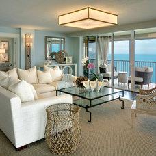 Beach Style Living Room by LAURA MILLER, ASID, NCIDQ: INTERIOR DESIGN