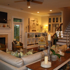 Eclectic Living Room by Cowan Incorporated