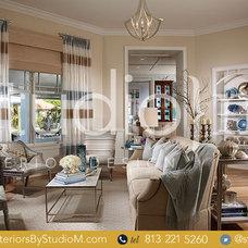 Tropical Living Room by Studio M Interior Design