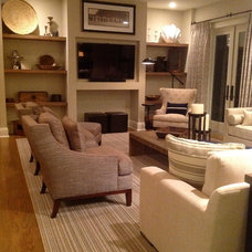 Beach Style Living Room by Barbara Page Interiors