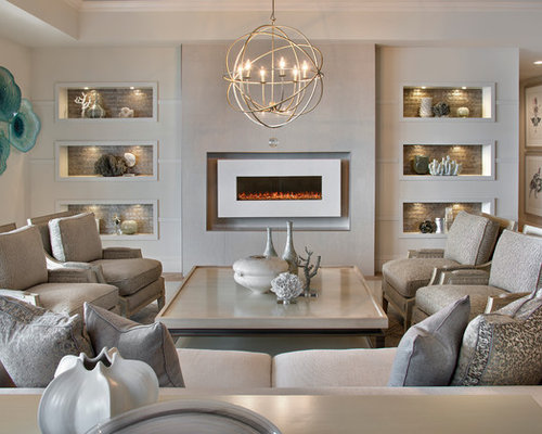 Transitional Living Room With Coastal Vibe And Blue: Transitional Coastal Living Home Design, Photos & Decor Ideas