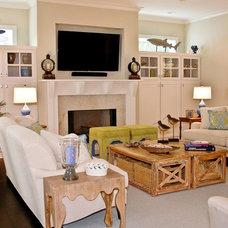 Beach Style Living Room by Jane Roseborough Interiors