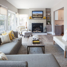 Contemporary Living Room by Robert Jenny Design