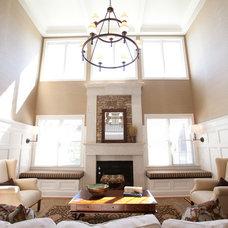 Beach Style Living Room by Loftus Design, LLC