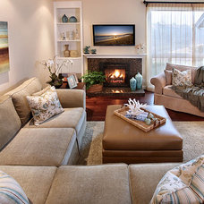 Traditional Living Room by Kathleen Garito