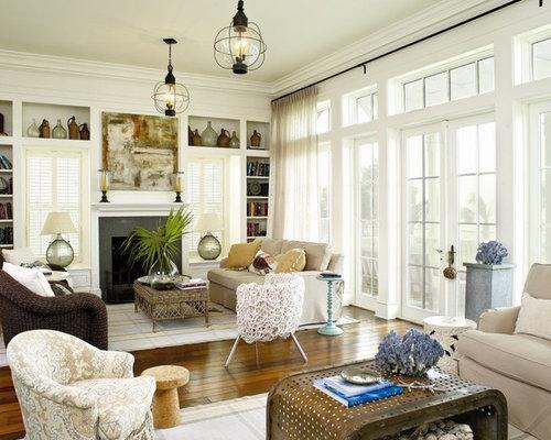 Fantastic Houzz Coastal Living Room Design Ideas Remodel Pictures Largest Home Design Picture Inspirations Pitcheantrous
