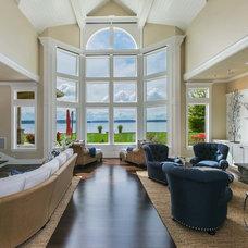 Traditional Living Room by Tamara Rosenbloom Design LLC