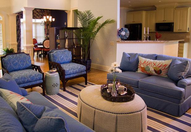 Beach Style Living Room by Jane Ann Designs