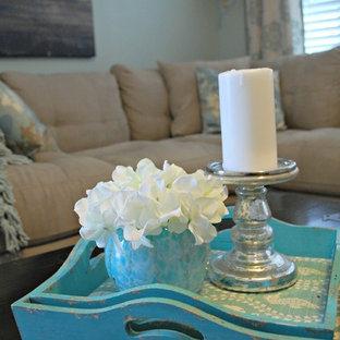 Coastal Living Room Makeover on a Budget