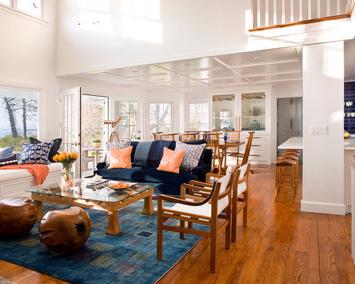 Blue And Coral Home Design Ideas Pictures Remodel And Decor