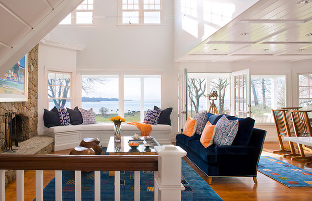Beach Style Living Room by Michael McKinley and Associates, LLC