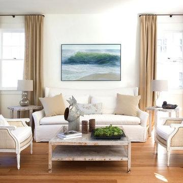 Coastal Loft Living Room
