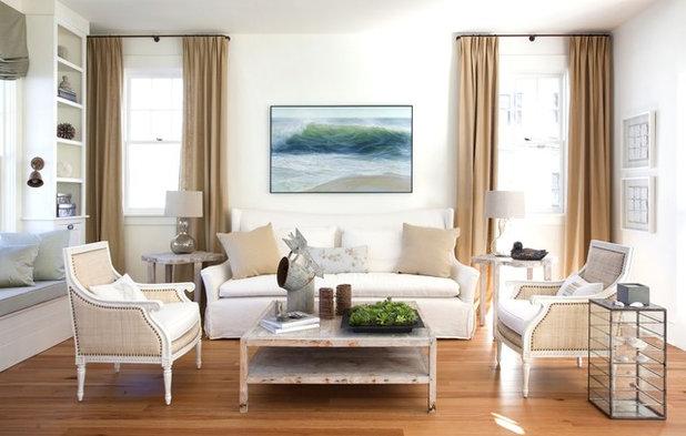 Transitional Living Room by Lisa Tharp Design