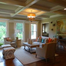 Tropical Living Room by Bella Cosa Home Designs, LLC