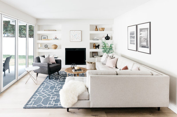Transitional Living Room by Madison Modern Home