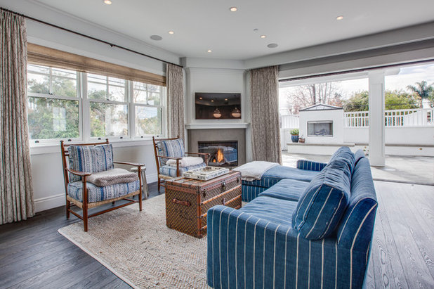 Beach Style Living Room by Luke Gibson Photography