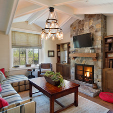 Farmhouse Living Room by Anne Sneed Architectural Interiors