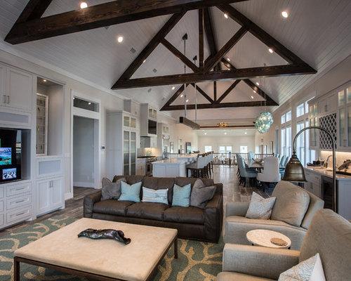 Beach Style Plafond En Pente Home Design, Photos & Decor Ideas