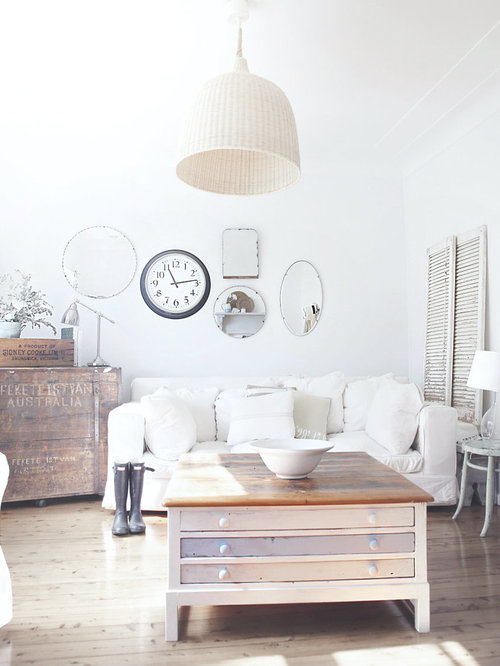 beach shabby chic furniture. Cottage Chic Light Wood Floor Living Room Photo In Sydney With White Walls Beach Shabby Furniture