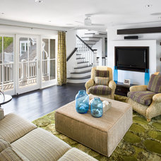 Beach Style Living Room by Dewson Construction Company