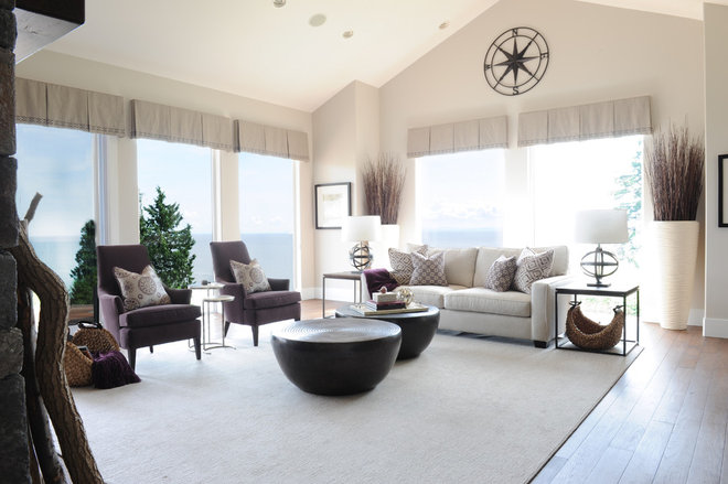 Beach Style Living Room by Simply Home Decorating