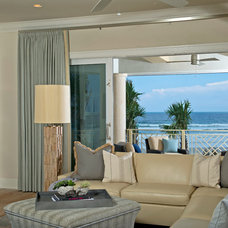 Beach Style Living Room by Charles Clayton Construction Inc