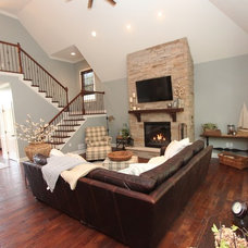 Transitional Living Room by Costa Homebuilders