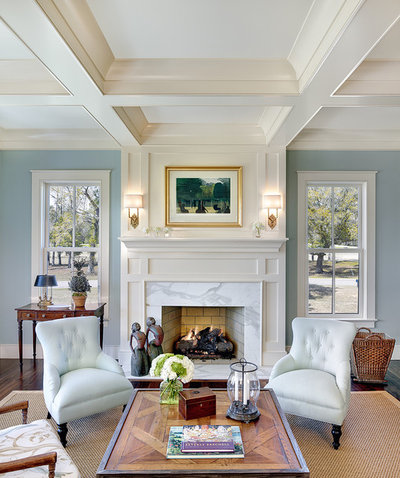 Delightful Traditional Living Room By Structures Building Company