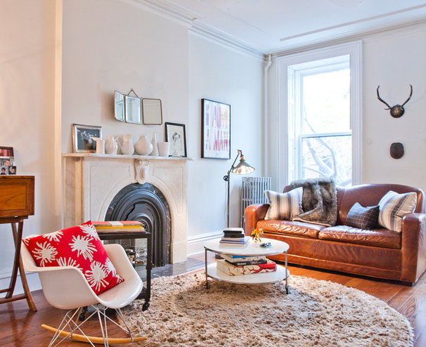 Eclectic Living Room by Shelly Chung Design
