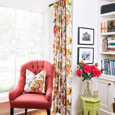 Contemporary Living Room by Q. Design - Drapery & Design Resource Centre