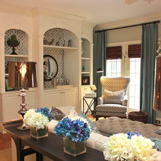 Transitional Living Room by New South Design, LLC