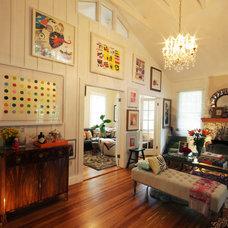 Eclectic Living Room by Errez Design Inc.