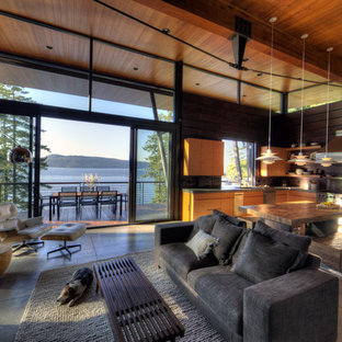 modern log cabin houzz