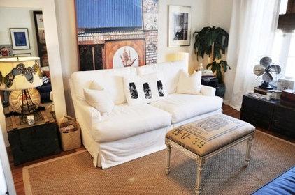Eclectic Living Room Coffee Bag Ottoman