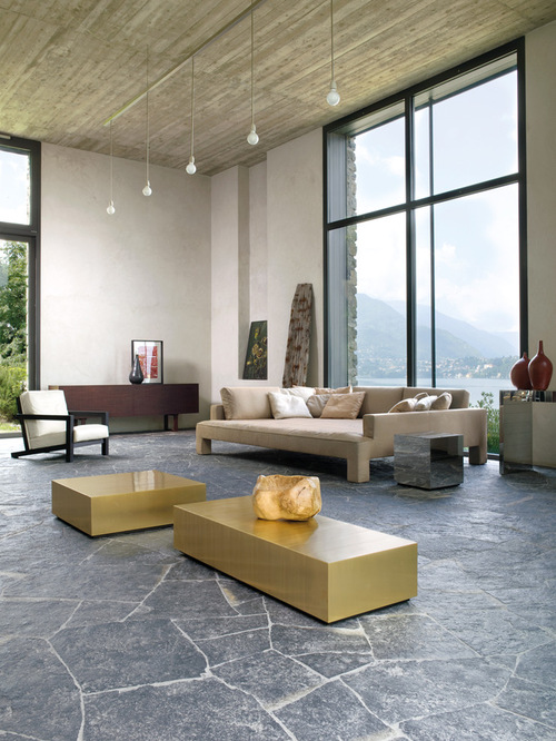 Natural Stone Flooring. Top Living Room Flooring Options Design Ideas