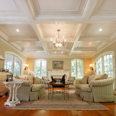 Traditional Living Room by Tilton Coffered Ceilings