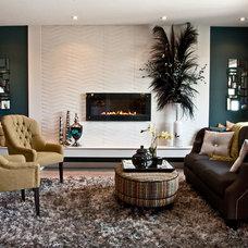 Transitional Living Room by Carpet Colour Centre - Carpet One