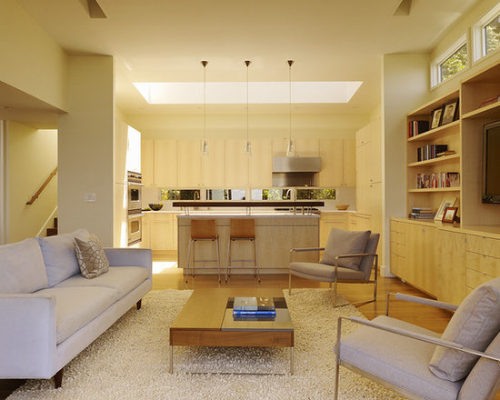 Kitchen Open To Living Room Houzz