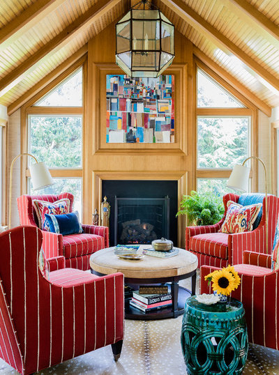Traditional Living Room by Katie Rosenfeld Design
