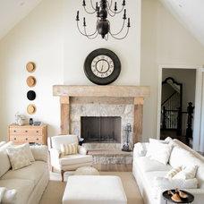 Transitional Living Room by LVZ Design