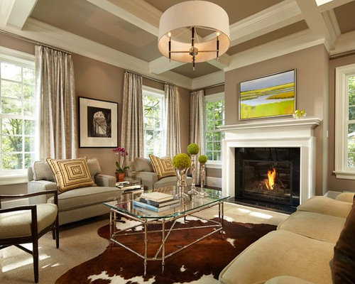 Neutral living room houzz for Neutral living room decor