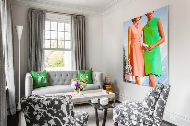 Transitional Living Room by Alisberg Parker