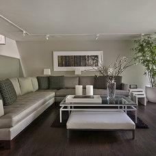 Contemporary Living Room by AMW Design Studio