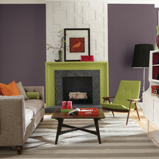 Transitional Living Room by Sherwin-Williams