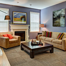 Transitional Living Room by Tracey Stephens Interior Design Inc