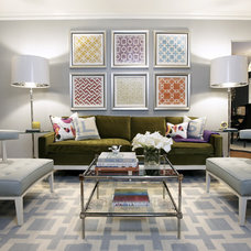 Contemporary Living Room by Beth Dotolo, ASID, RID, NCIDQ