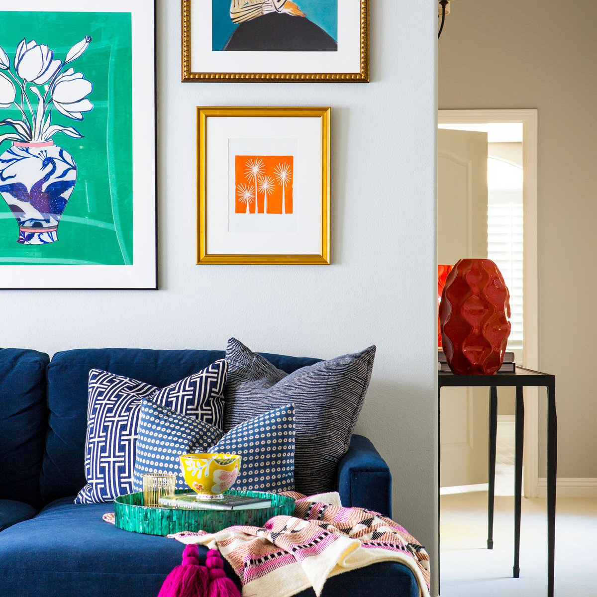 Colorful & Eclectic Loft Living Space
