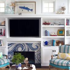 Beach Style Living Room by Brittney Nielsen Interior Design