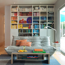 Midcentury Living Room by Kropat Interior Design